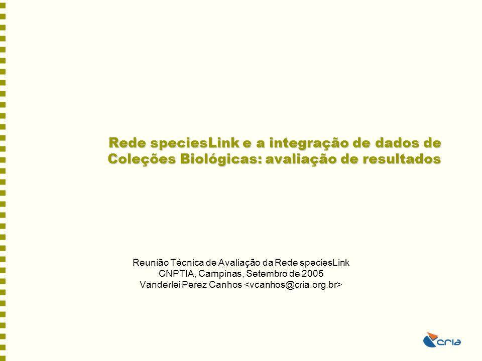 Rede speciesLink e a integração de dados de Coleções Biológicas: avaliação de resultados