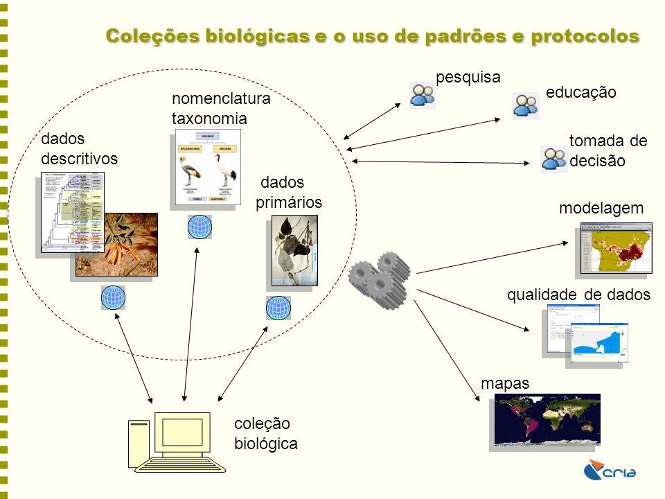 Coleções biológicas e o uso de padrões e protocolos