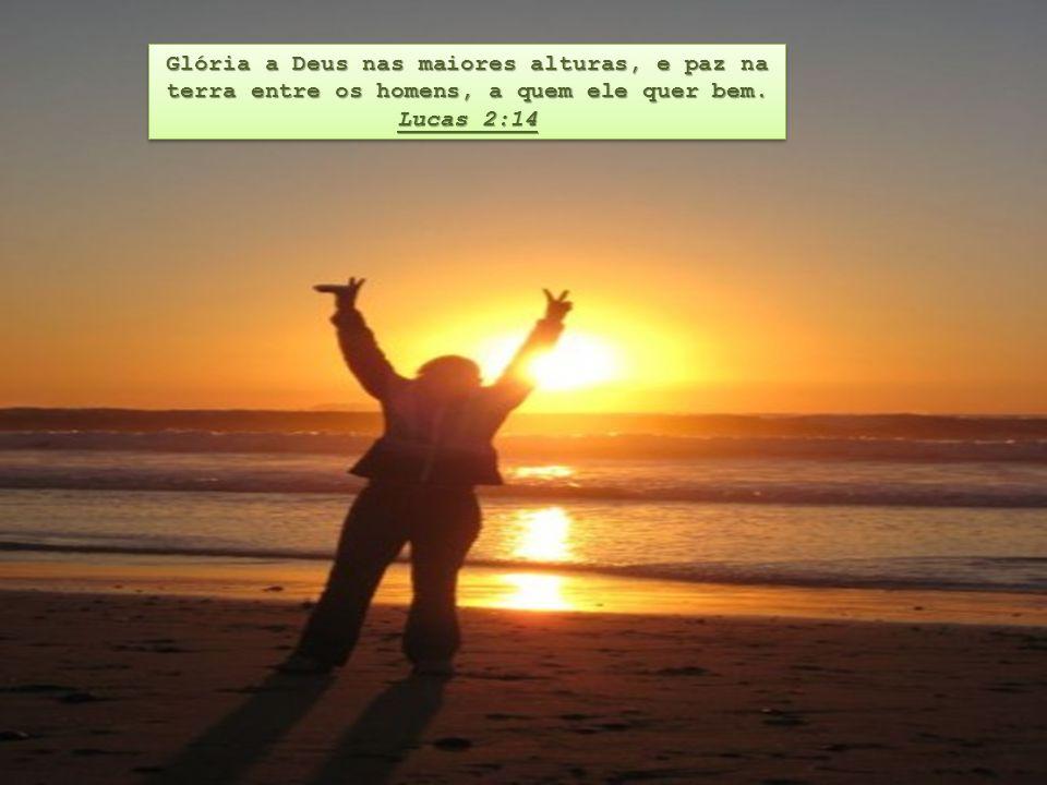 Glória a Deus nas maiores alturas, e paz na terra entre os homens, a quem ele quer bem.