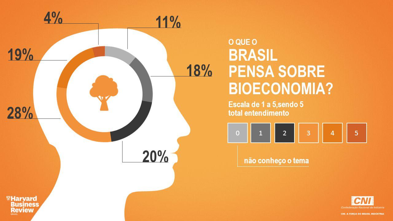 4% 11% 19% BRASIL 18% PENSA SOBRE BIOECONOMIA 28% 20% O QUE O