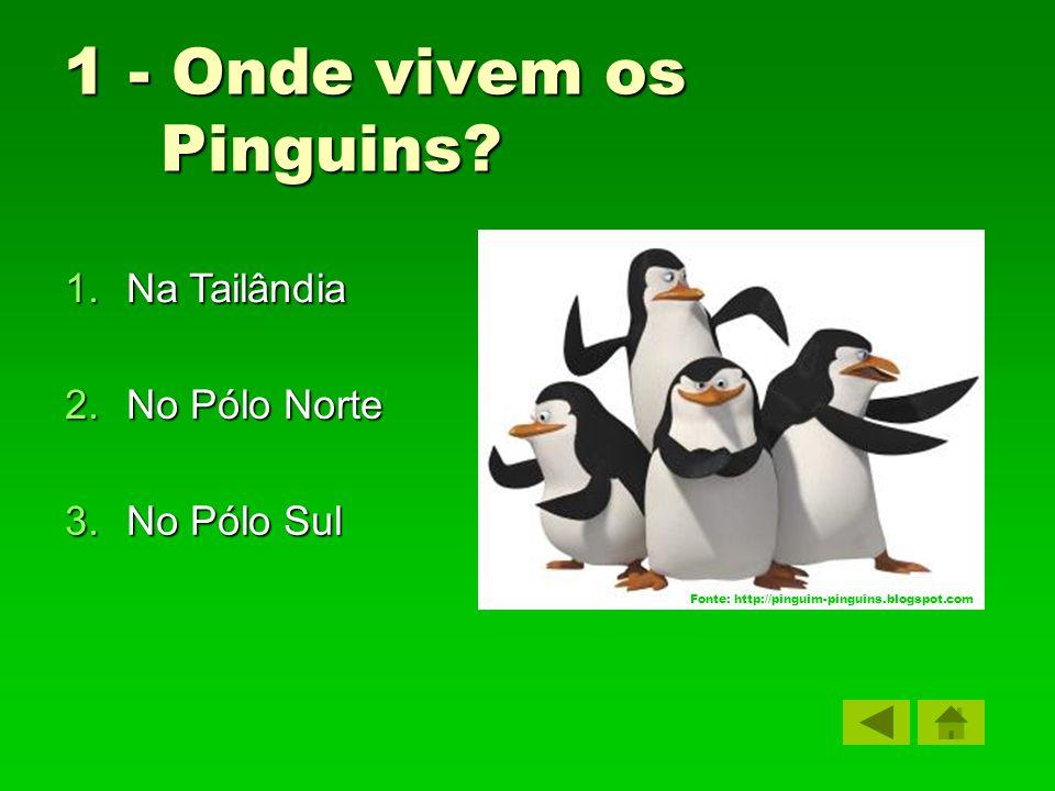 1 - Onde vivem os Pinguins