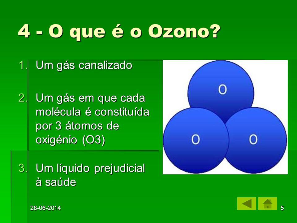 4 - O que é o Ozono Um gás canalizado