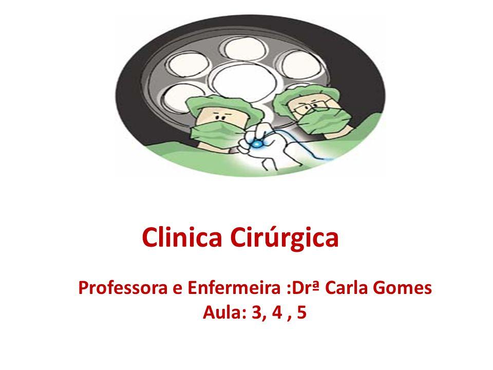 Professora e Enfermeira :Drª Carla Gomes Aula: 3, 4 , 5