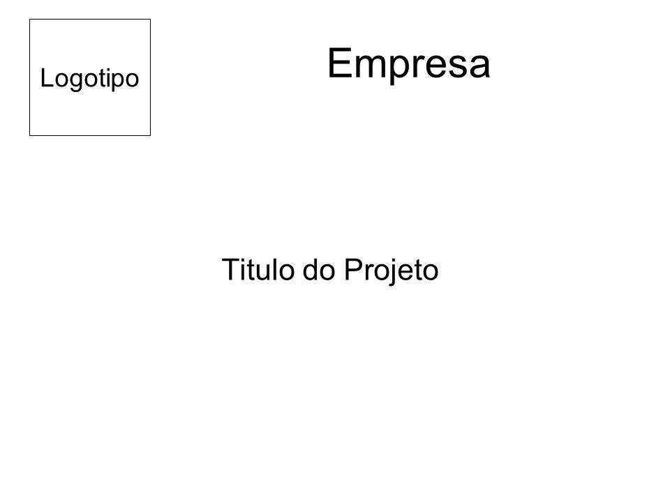 Logotipo Empresa Titulo do Projeto