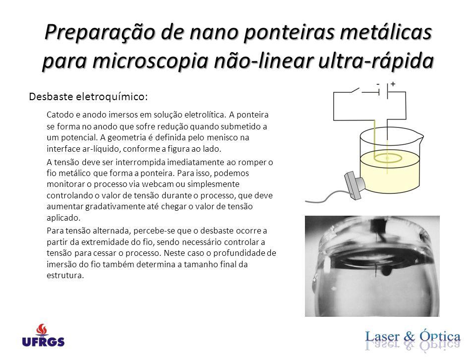 Preparação de nano ponteiras metálicas para microscopia não-linear ultra-rápida