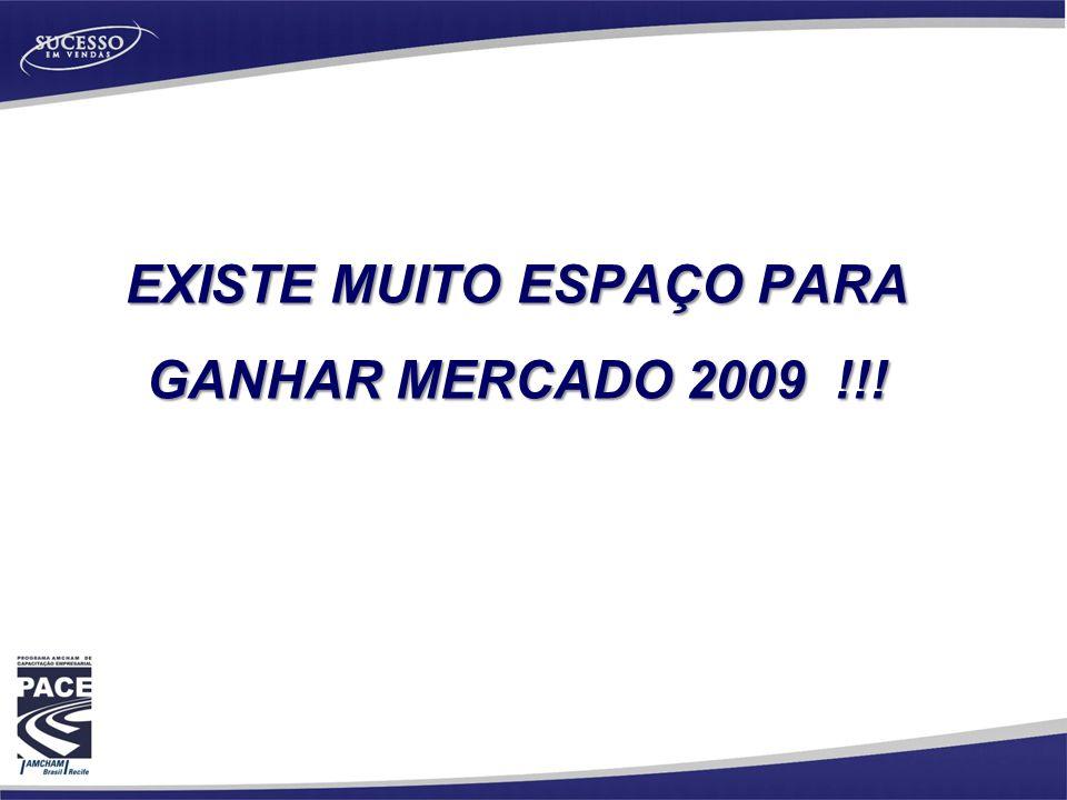 EXISTE MUITO ESPAÇO PARA GANHAR MERCADO 2009 !!!