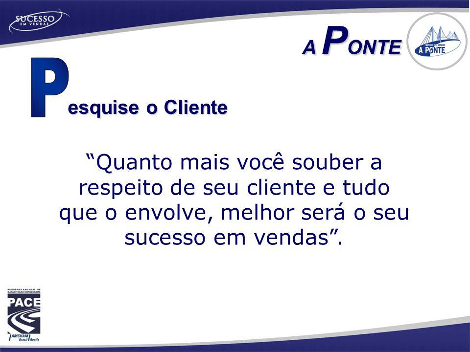A PONTE P. esquise o Cliente.