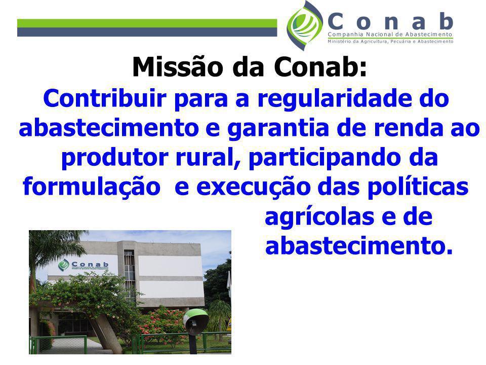 Missão da Conab: Contribuir para a regularidade do