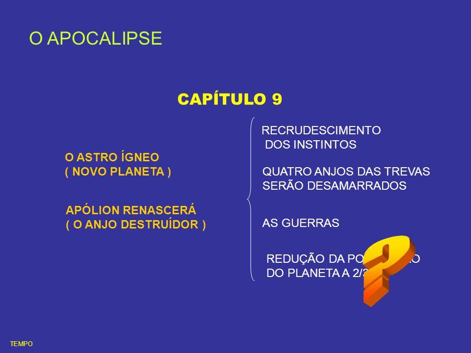O APOCALIPSE CAPÍTULO 9 RECRUDESCIMENTO DOS INSTINTOS O ASTRO ÍGNEO