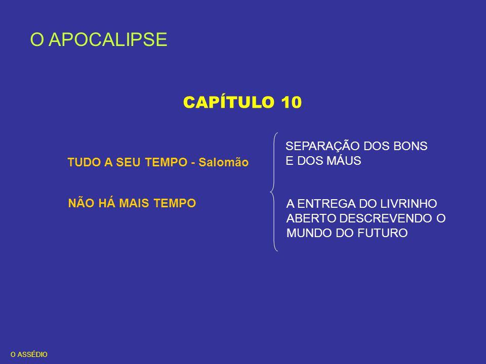 O APOCALIPSE CAPÍTULO 10 SEPARAÇÃO DOS BONS E DOS MÁUS