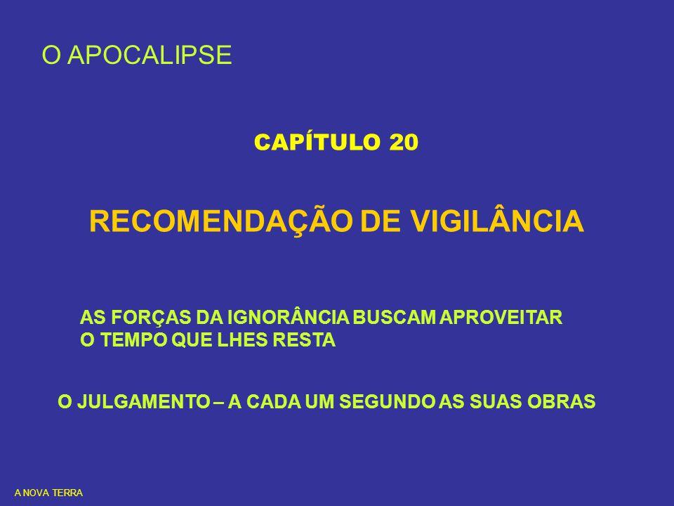 RECOMENDAÇÃO DE VIGILÂNCIA