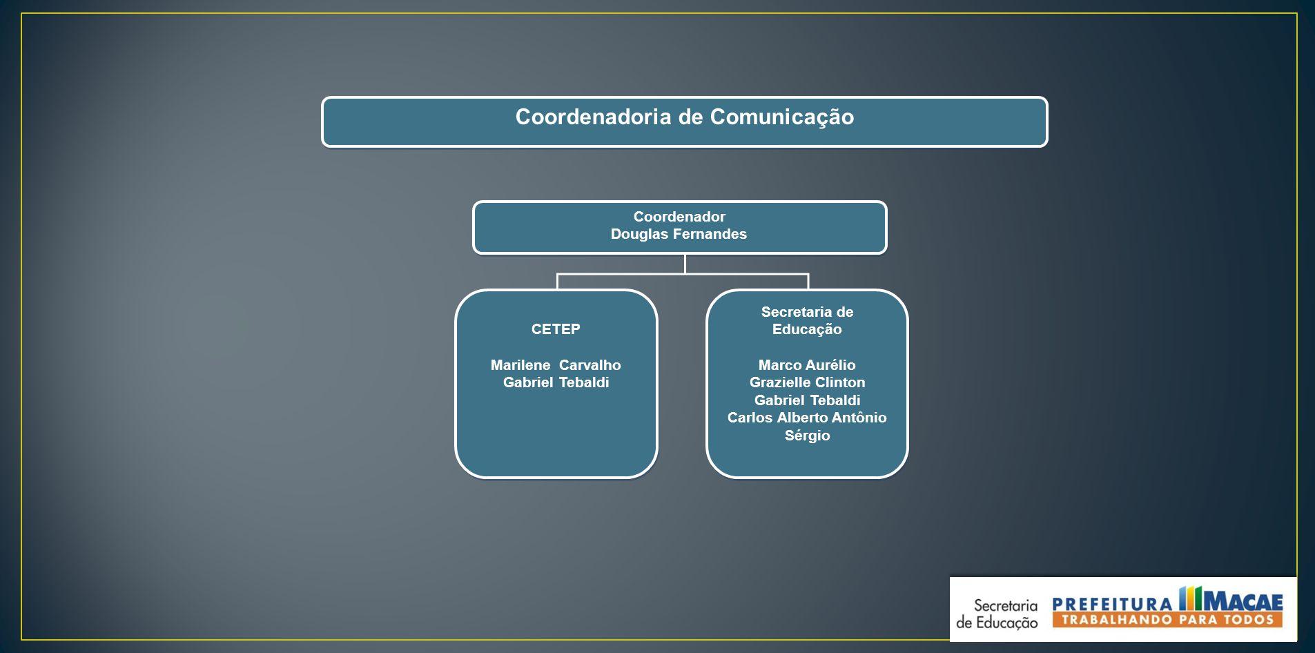 Coordenadoria de Comunicação Carlos Alberto Antônio Sérgio