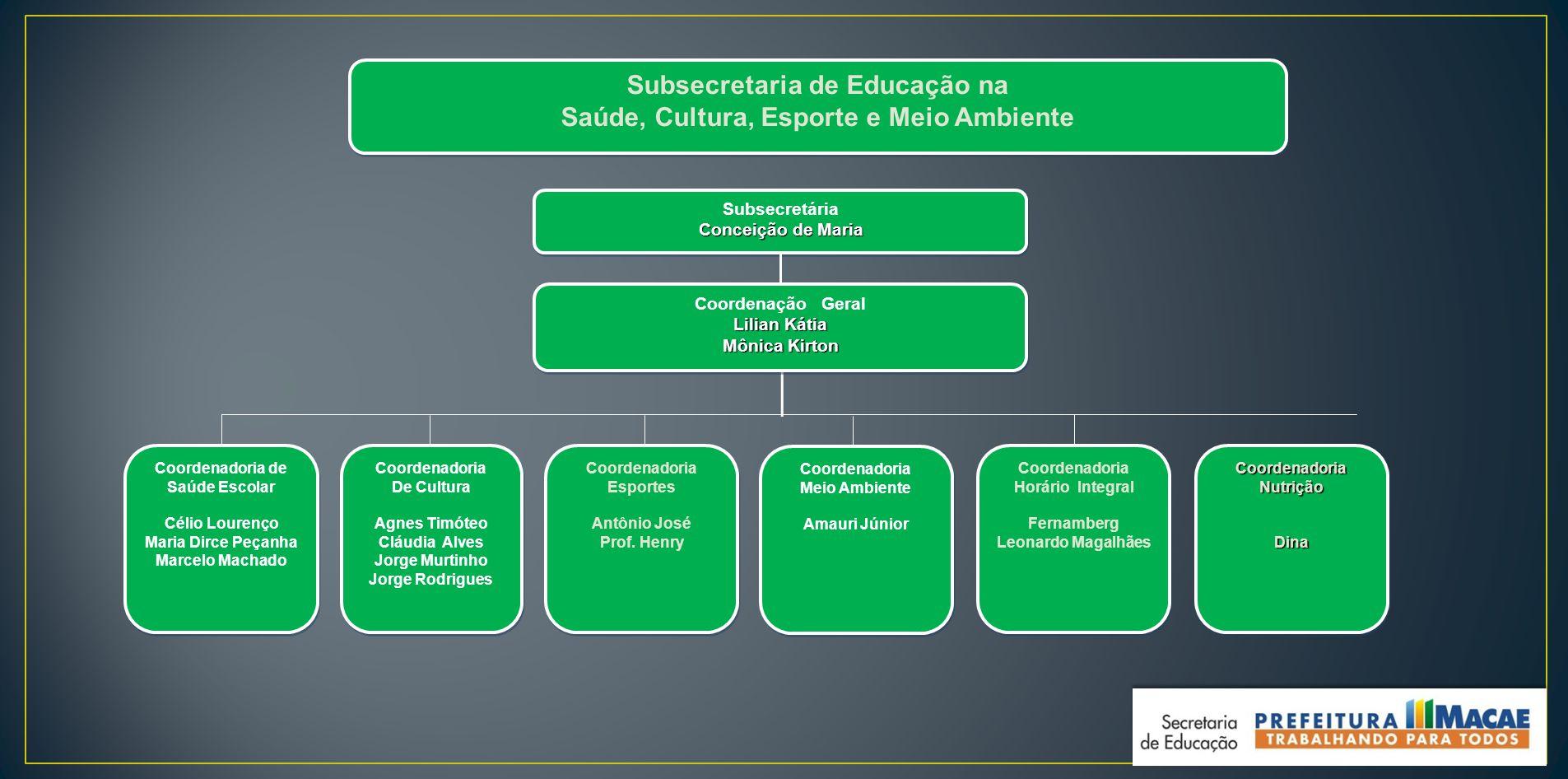 Subsecretaria de Educação na Saúde, Cultura, Esporte e Meio Ambiente
