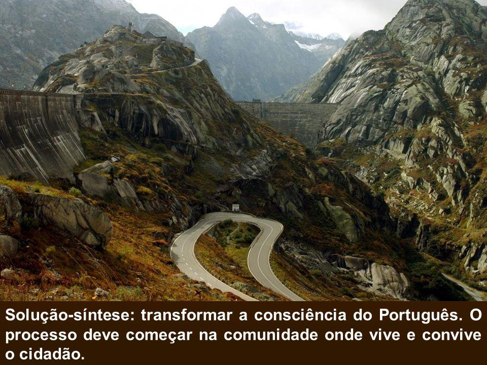 Solução-síntese: transformar a consciência do Português
