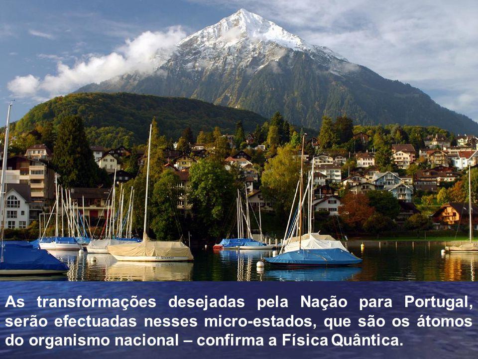As transformações desejadas pela Nação para Portugal, serão efectuadas nesses micro-estados, que são os átomos do organismo nacional – confirma a Física Quântica.