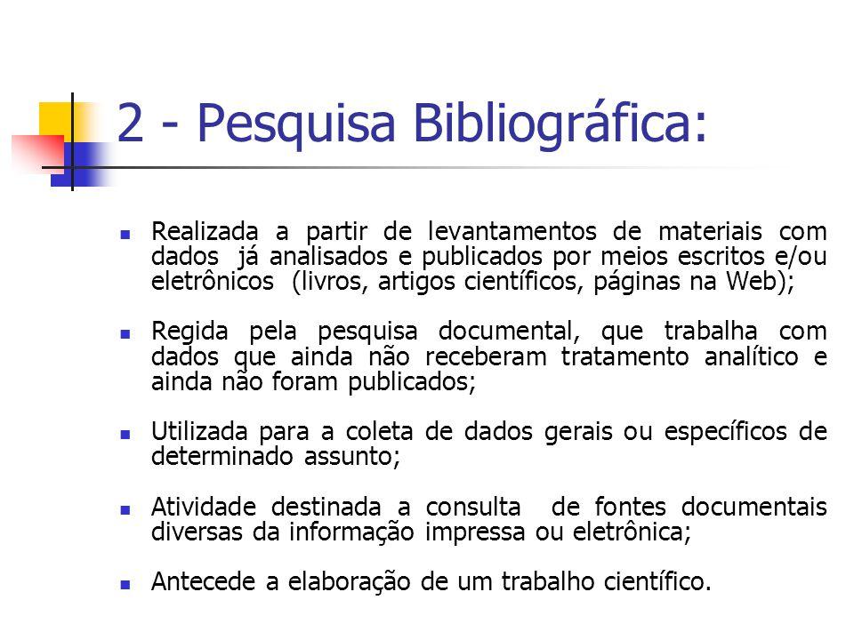 2 - Pesquisa Bibliográfica: