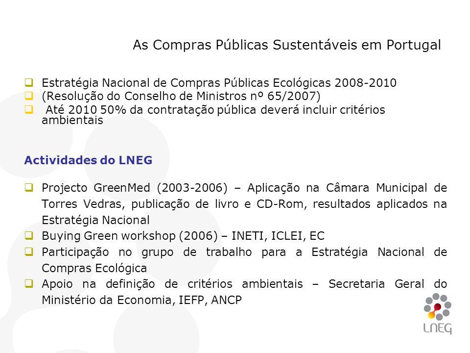As Compras Públicas Sustentáveis em Portugal