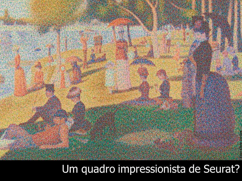 Um quadro impressionista de Seurat