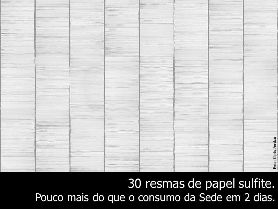 30 resmas de papel sulfite.