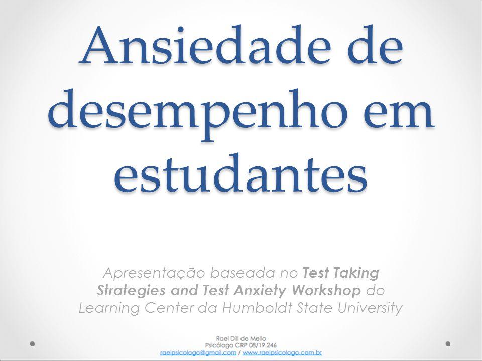 Ansiedade de desempenho em estudantes