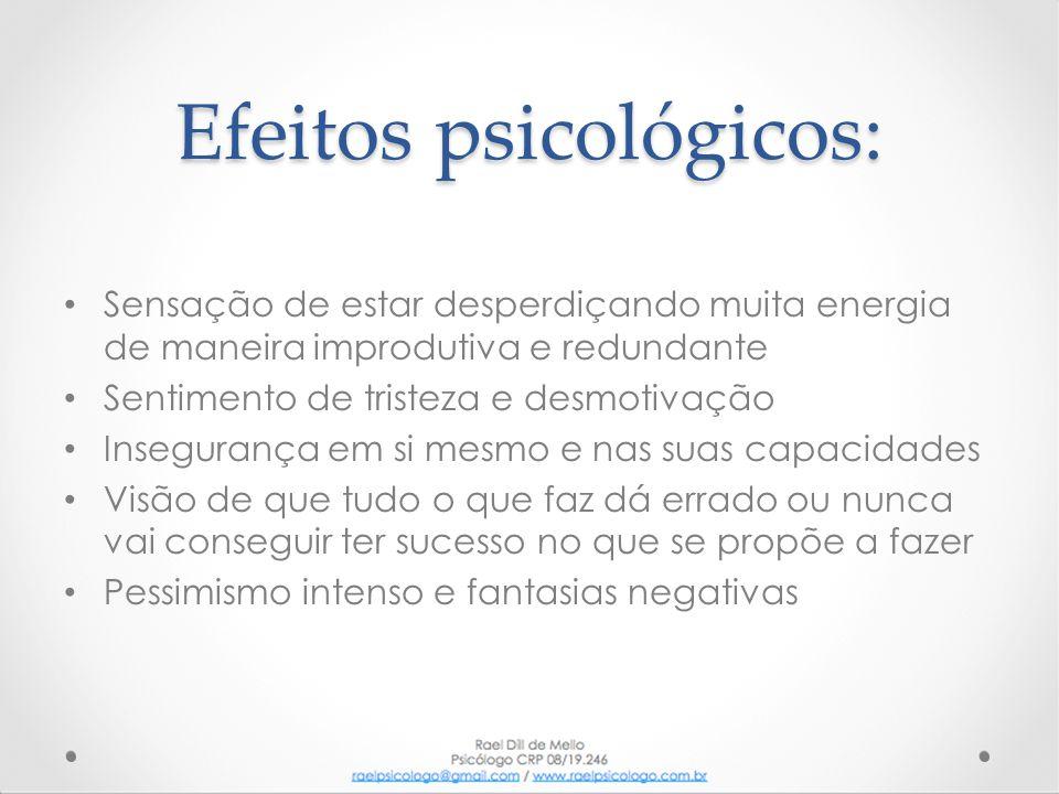 Efeitos psicológicos: