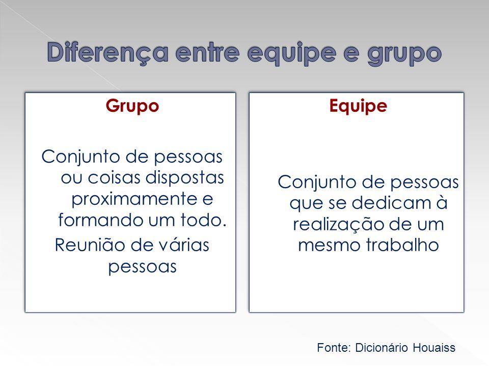Diferença entre equipe e grupo