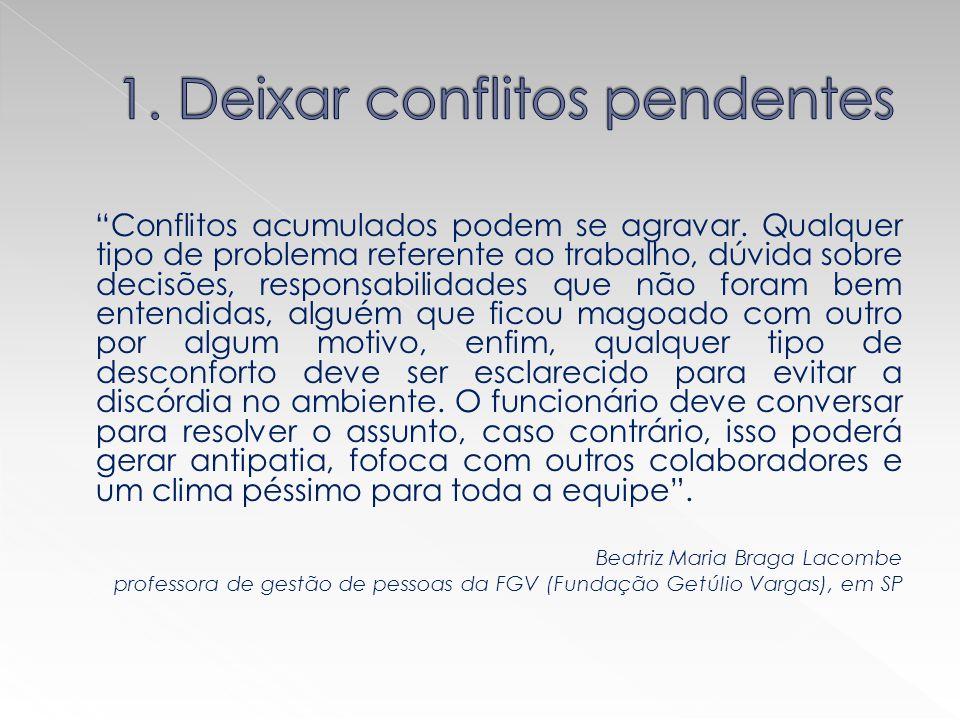 1. Deixar conflitos pendentes