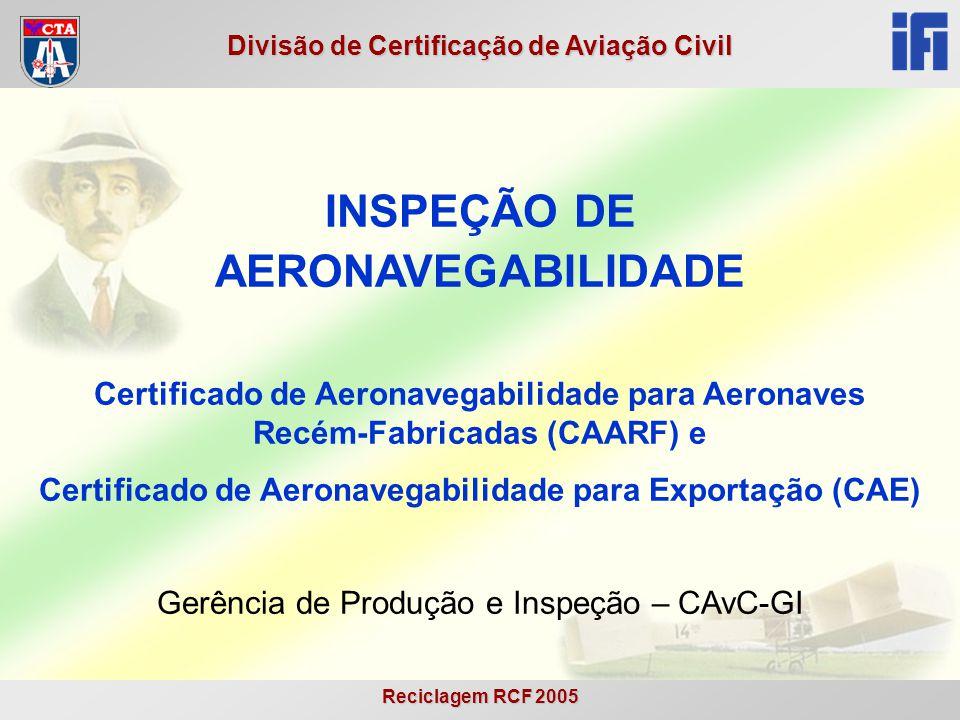Certificado de Aeronavegabilidade para Exportação (CAE)