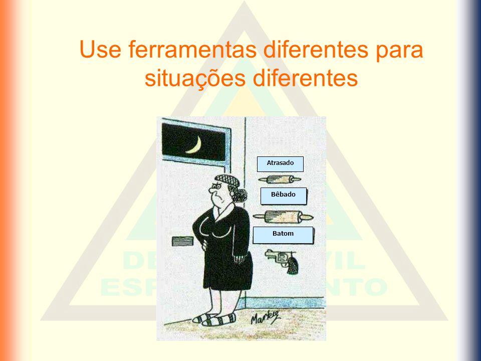 Use ferramentas diferentes para situações diferentes
