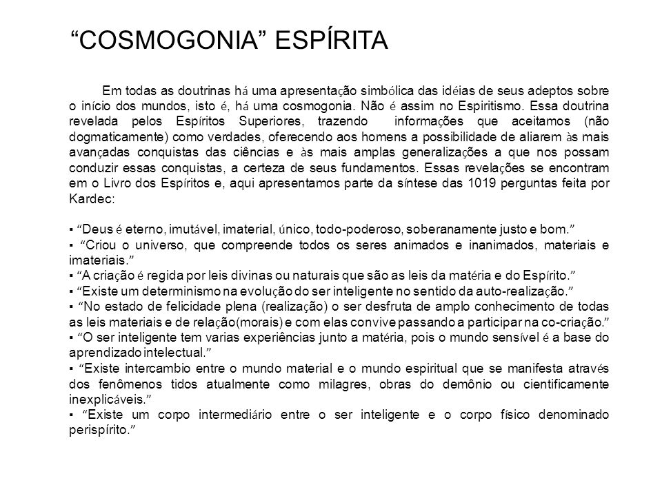 COSMOGONIA ESPÍRITA