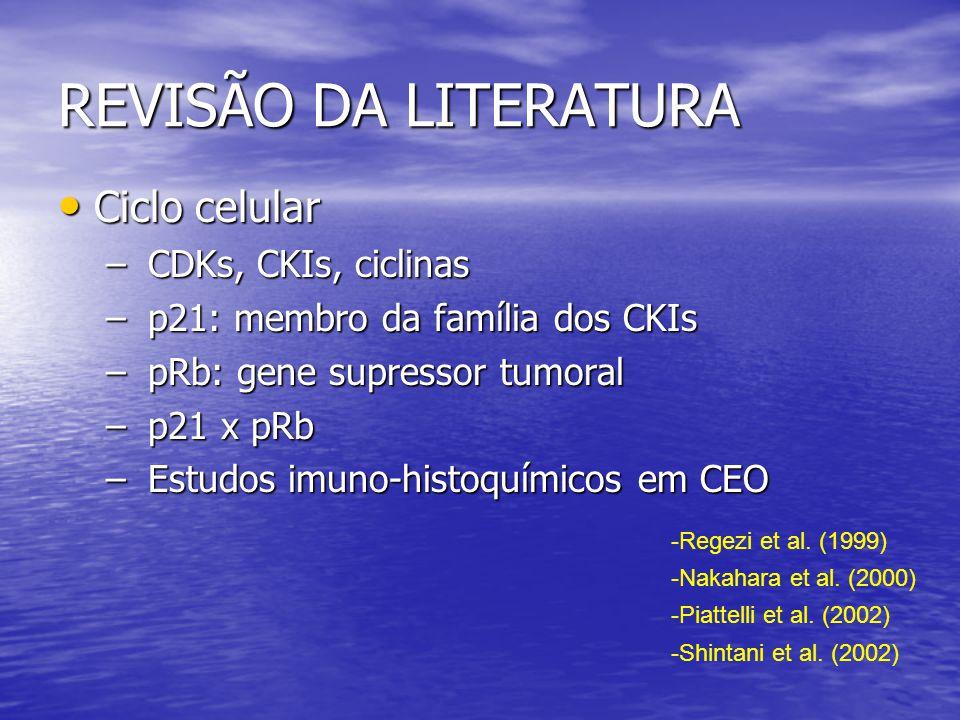 REVISÃO DA LITERATURA Ciclo celular CDKs, CKIs, ciclinas
