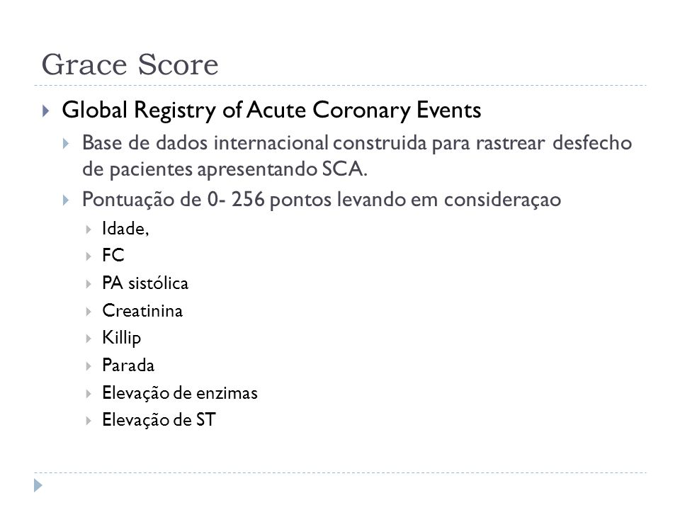 Grace Score Global Registry of Acute Coronary Events