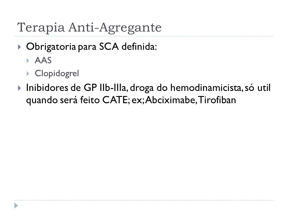 Terapia Anti-Agregante