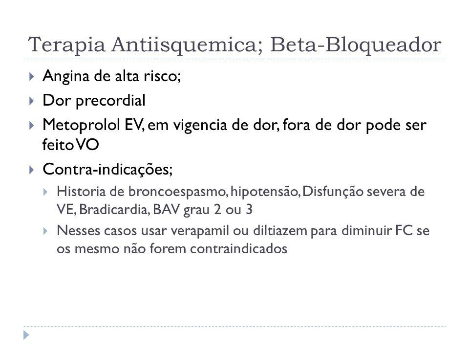 Terapia Antiisquemica; Beta-Bloqueador