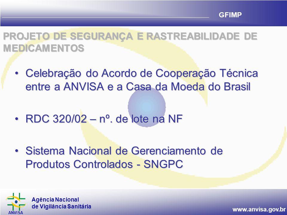 PROJETO DE SEGURANÇA E RASTREABILIDADE DE MEDICAMENTOS