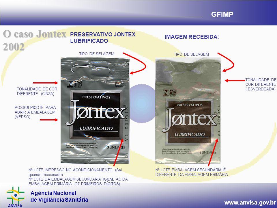 O caso Jontex 2002 PRESERVATIVO JONTEX LUBRIFICADO IMAGEM RECEBIDA: