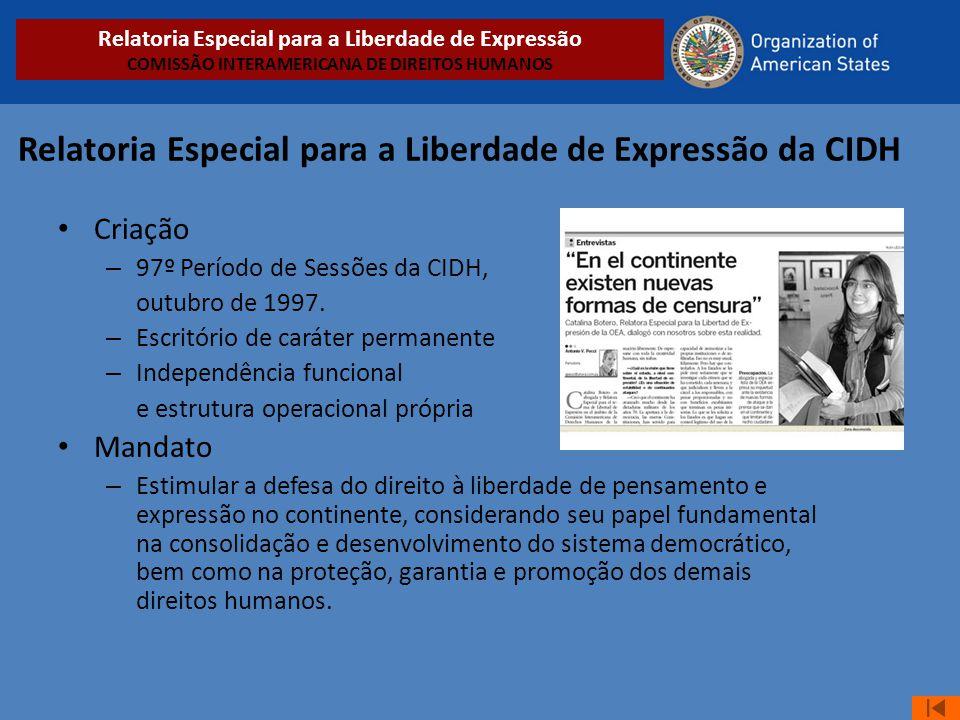 Relatoria Especial para a Liberdade de Expressão da CIDH