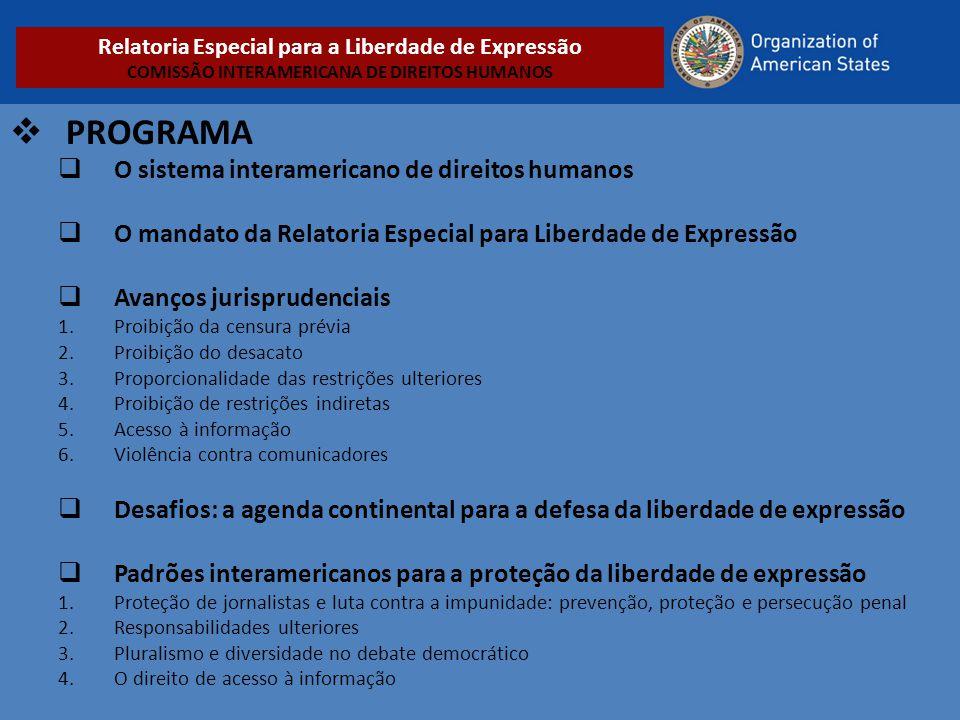 PROGRAMA O sistema interamericano de direitos humanos