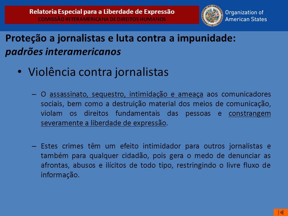 Violência contra jornalistas