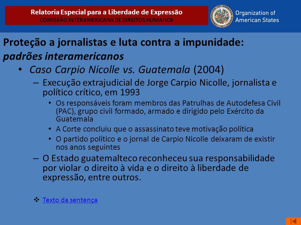 Caso Carpio Nicolle vs. Guatemala (2004)