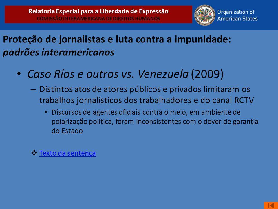 Caso Ríos e outros vs. Venezuela (2009)