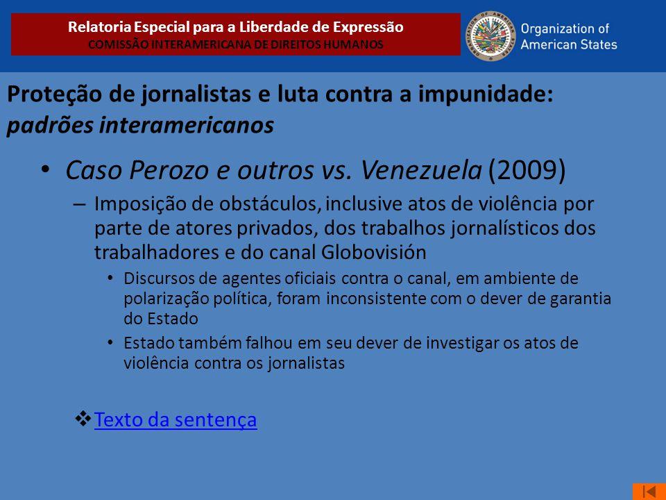 Caso Perozo e outros vs. Venezuela (2009)