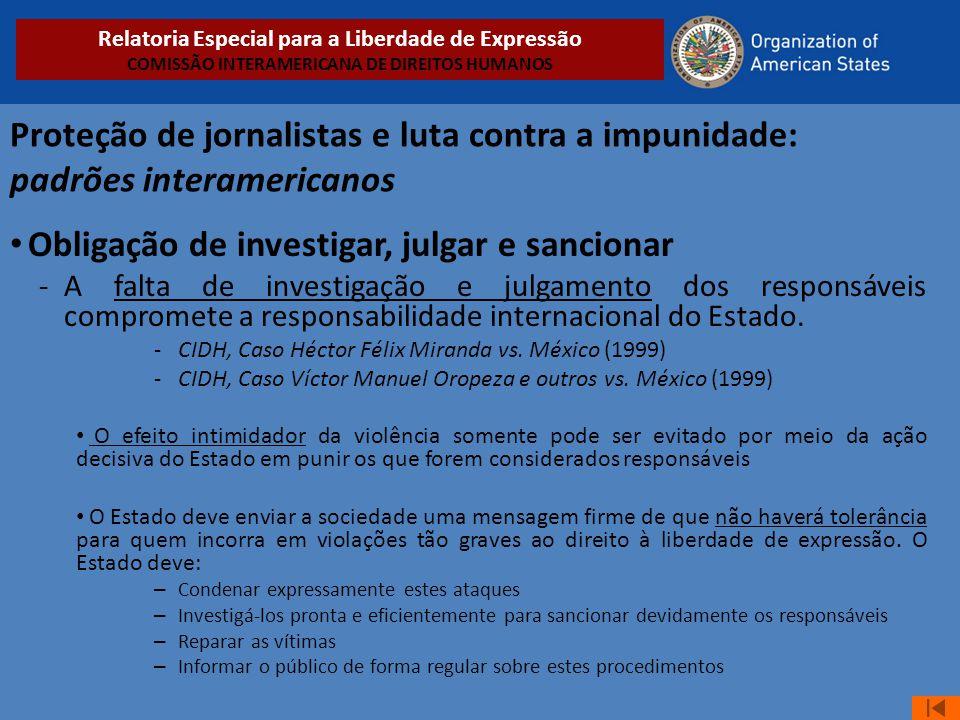 Obligação de investigar, julgar e sancionar