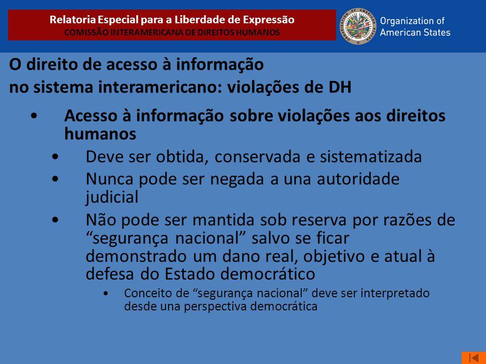 Acesso à informação sobre violações aos direitos humanos