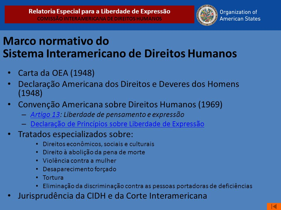 Marco normativo do Sistema Interamericano de Direitos Humanos