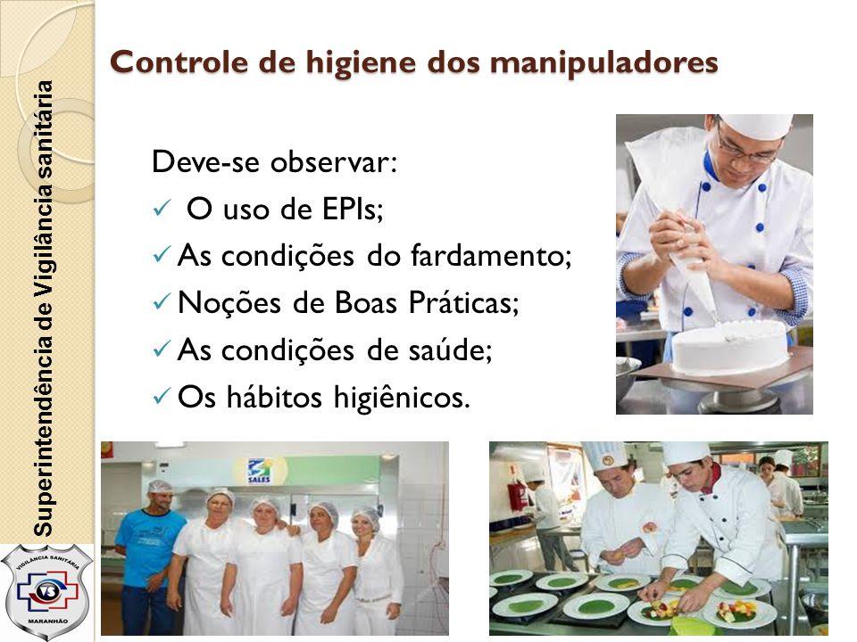 Controle de higiene dos manipuladores