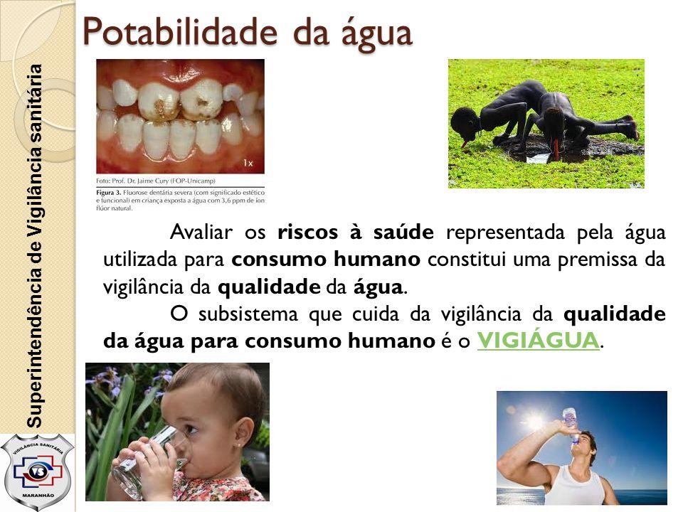 Potabilidade da água Superintendência de Vigilância sanitária.