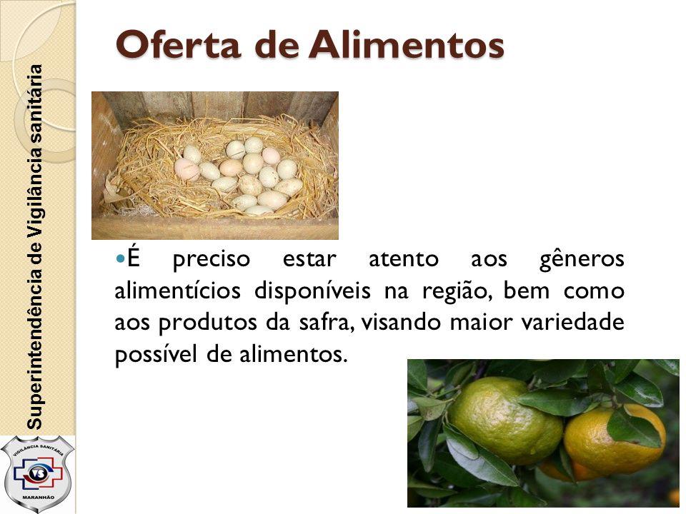 Oferta de Alimentos Superintendência de Vigilância sanitária.