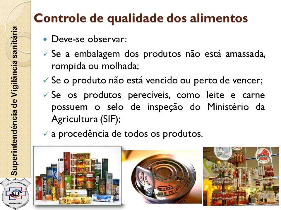 Controle de qualidade dos alimentos