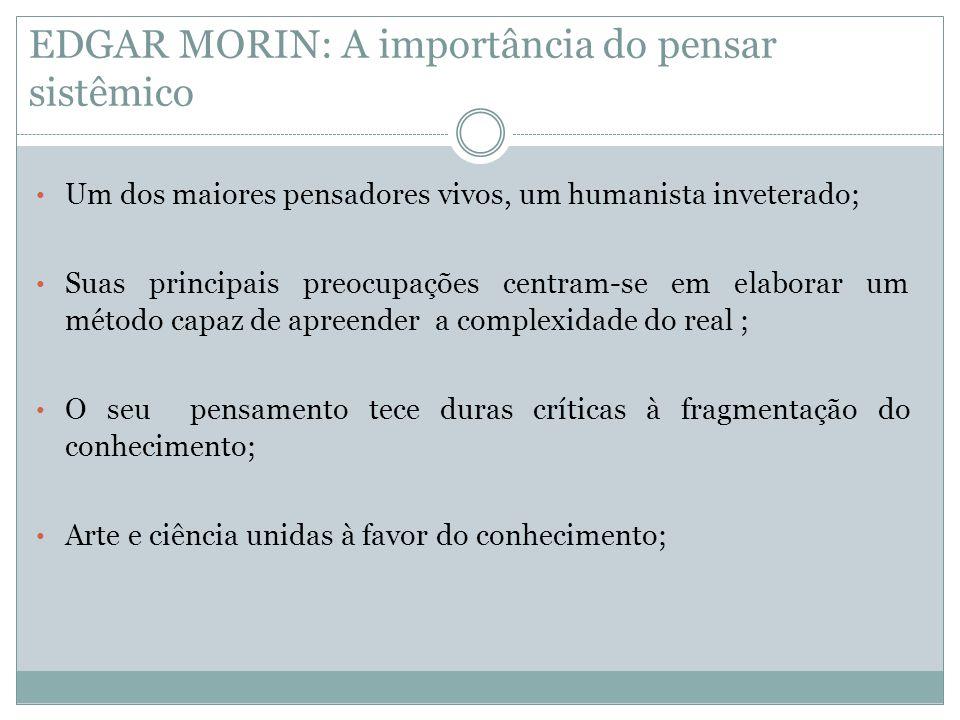 EDGAR MORIN: A importância do pensar sistêmico